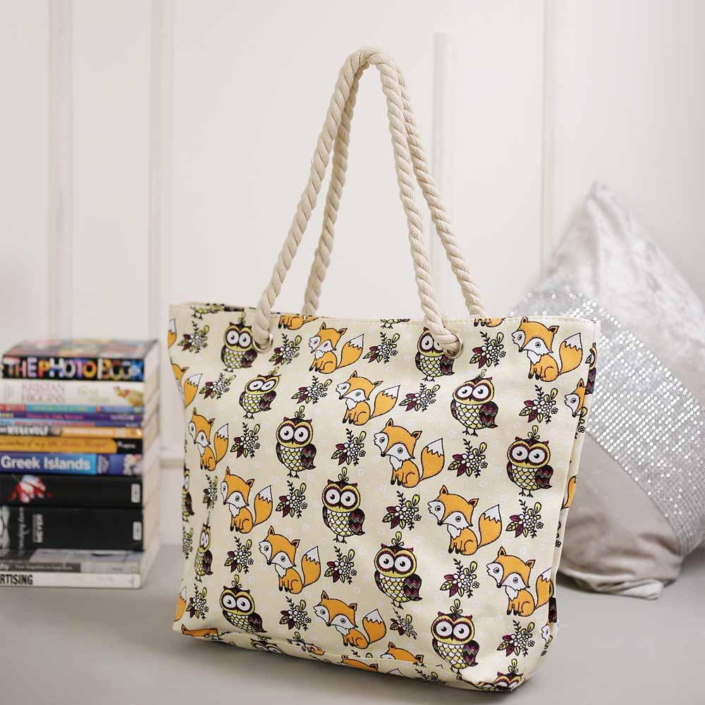 Wonderful White Contemporary Print Handbag