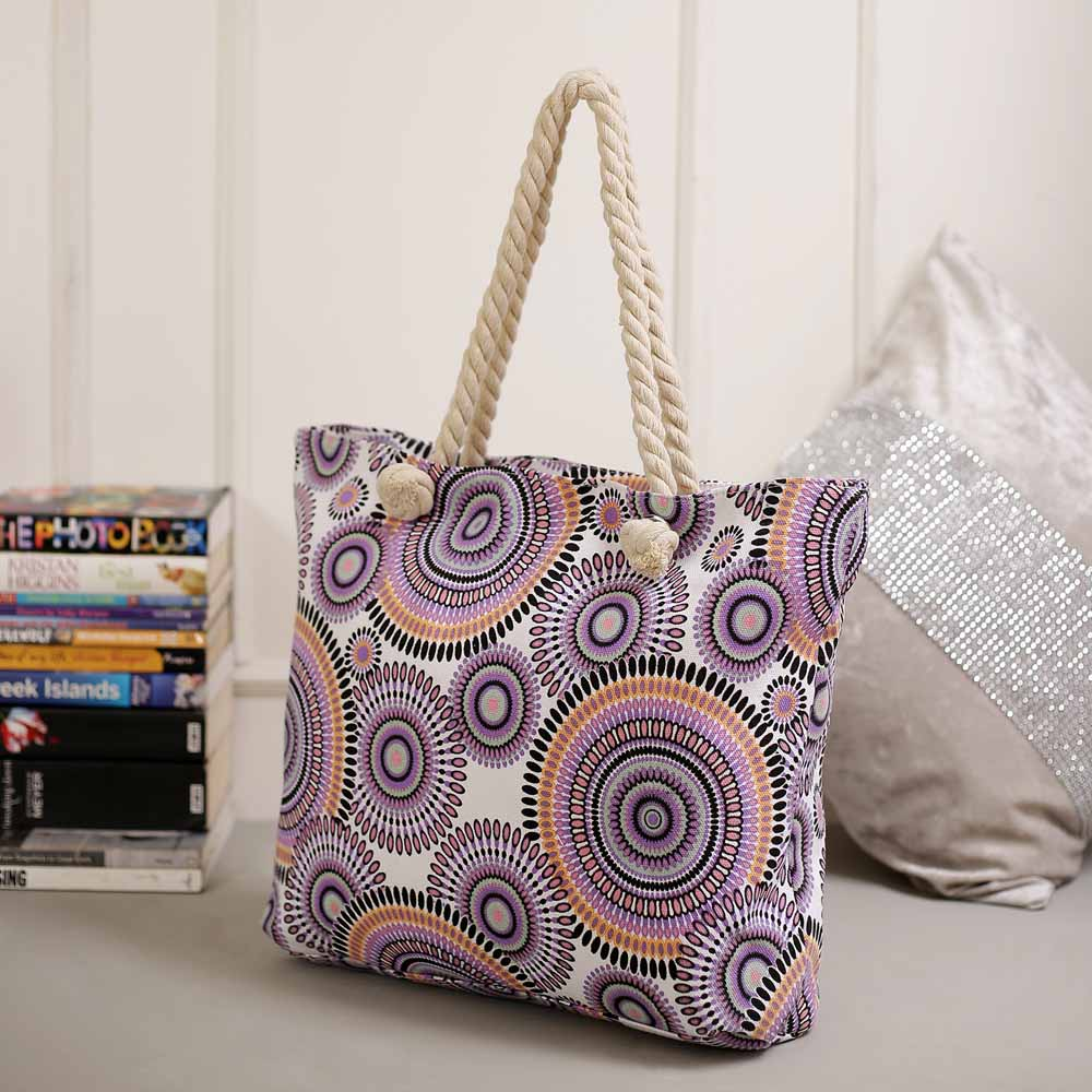 Beautiful Multicolor Circles Designed Hand Bag