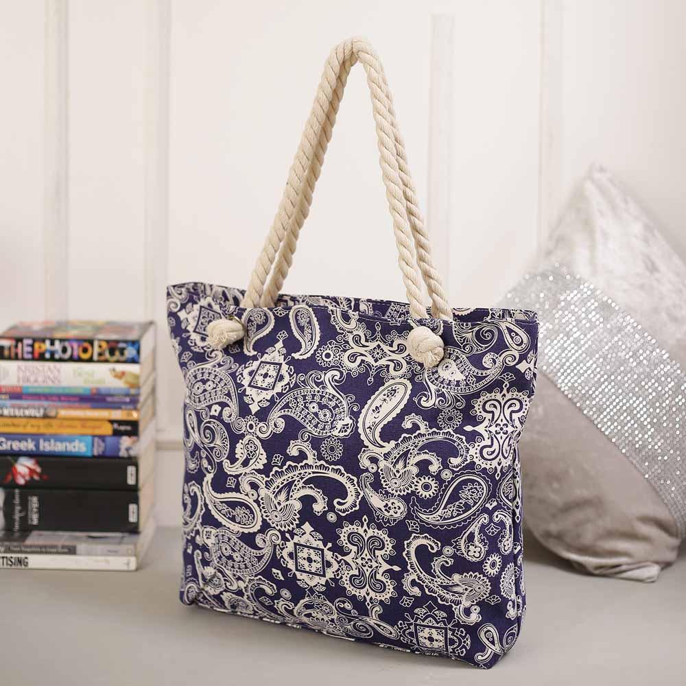 Elegant Floral Print Hand Bag