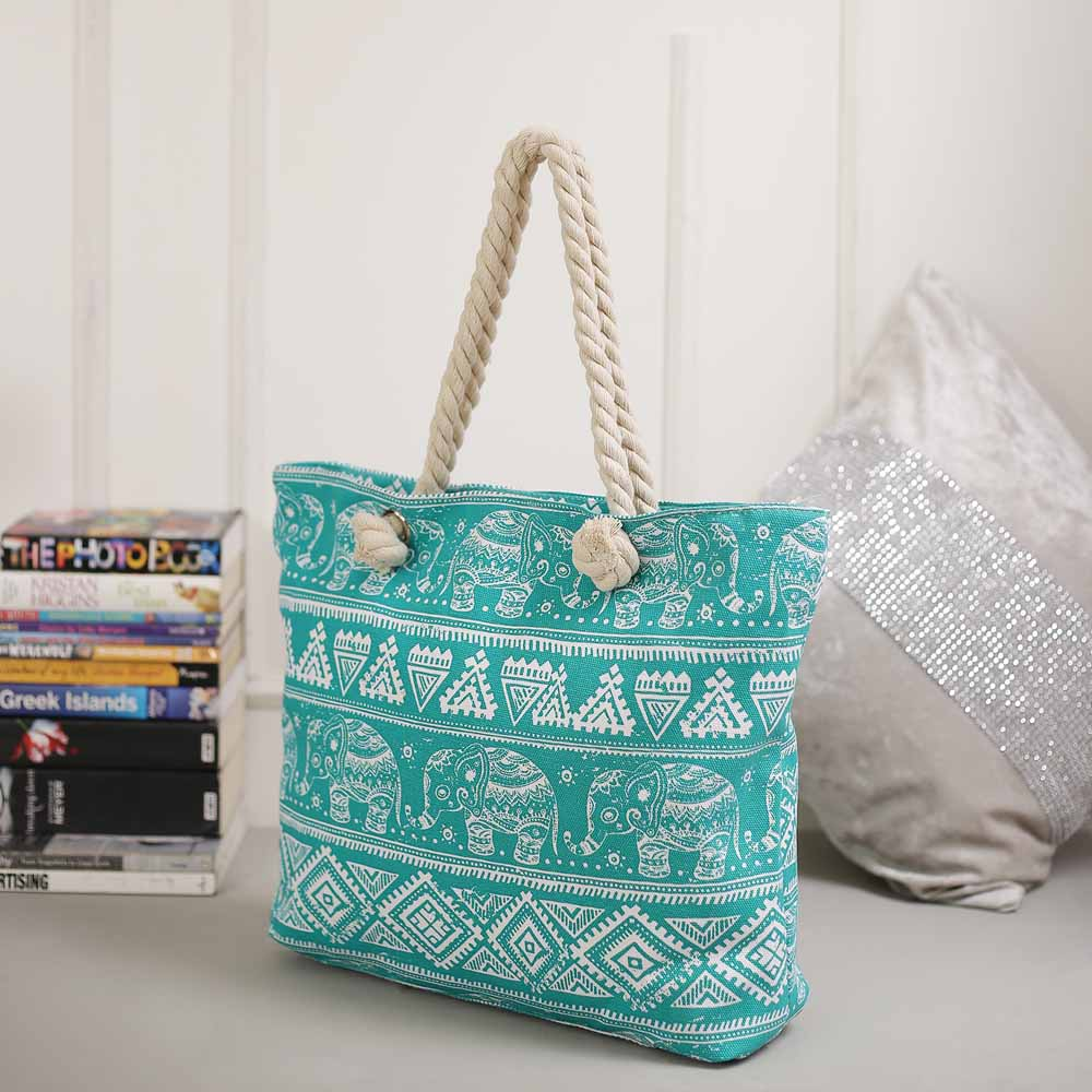 Fantastic Blue Contemporary Print Handbag