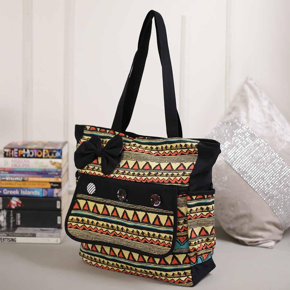 Lovely Multicolor Aztec Print Handbag