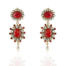 Kundan Earrings  »   Jewelry  »   Earrings  »   Precious Stone Earrings   :  costume jewelry design fashion accessories jewelry