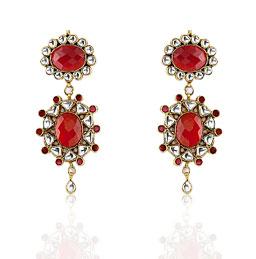 Kundan Earrings» Jewelry» Earrings» Precious Stone Earrings :  costume jewelry design fashion accessories jewelry