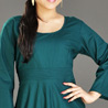 Teal Green Rayon Tunic for Women