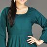 Teal Green Rayon Tunic for Women
