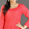 Red Cotton Tunic for Women