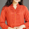 Rust Cotton Tunic for Women