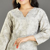 Grey Cotton Kurti for Women