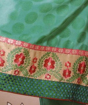 Salwar Kameez-Embroidered Green Shalwar Kameez
