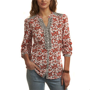 Floral Printed Full Sleeves Top for Women