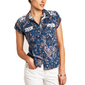 Multicolored Floral Printed Shirt for Women