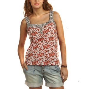 Multicolored Floral Printed Top for Women