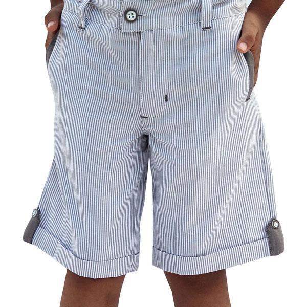 White Stripe Shorts for Boys