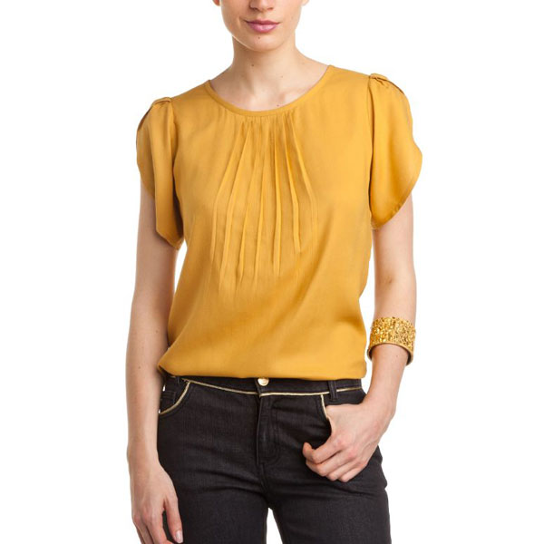 Yellow Printed Top for Women