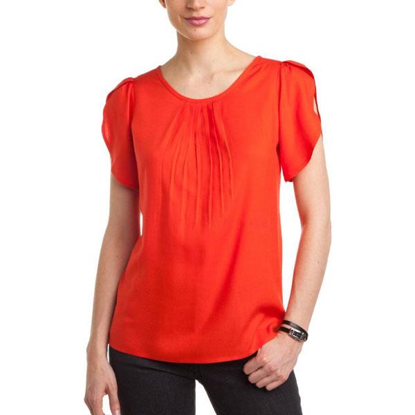 Orange Printed Top for Women