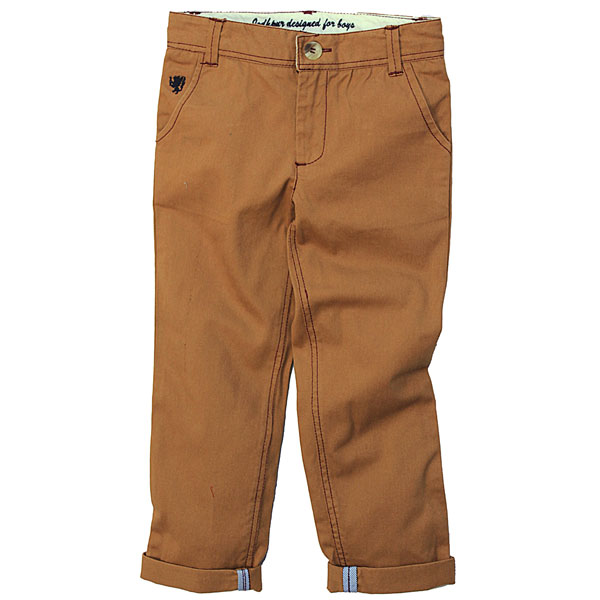 Brown Twill Pants for Boys