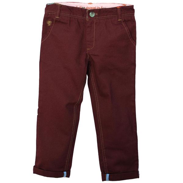 Maroon Twill Pants for Boys