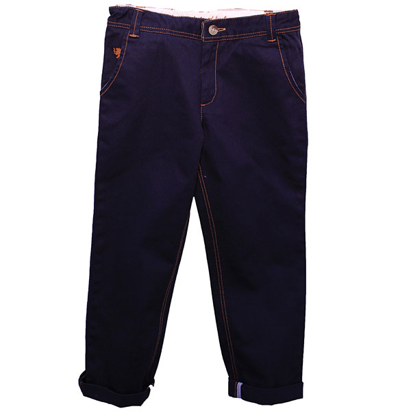 Blue Twill Pants for Boys