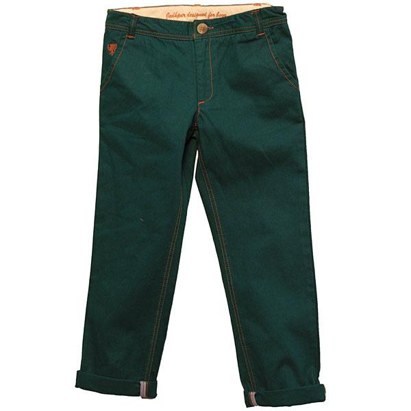 Dark Green Twill Pants for Boys