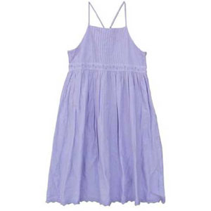 Purple Colored Spaghetti Dress for Girls