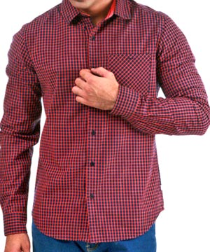 Casual Shirts-Yarn Dyed Blue and Pink Check Shirt