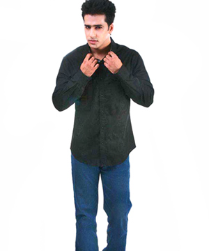 Casual Shirts-Black Formal Evening Wear