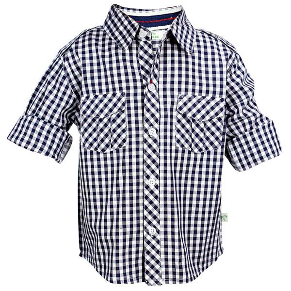 Blue Check Toddler Shirt
