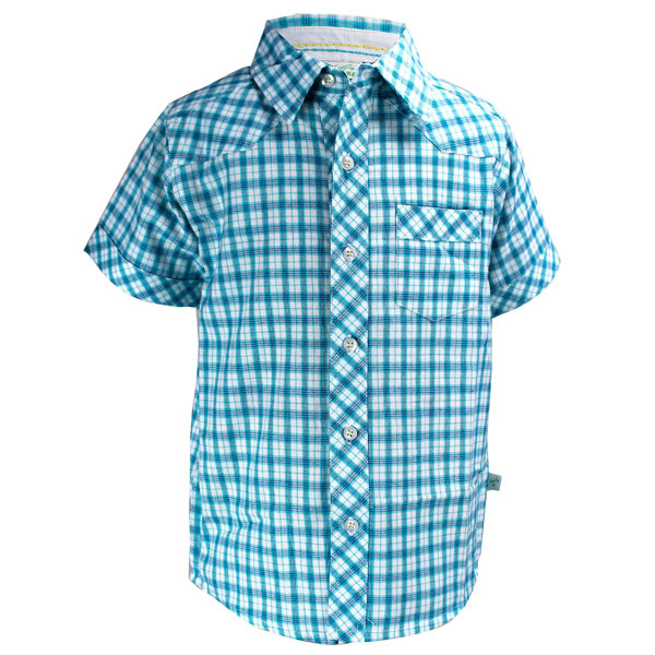 Light Blue Toddler Check Shirt