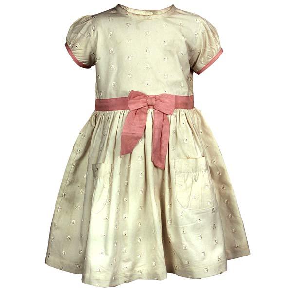 Ecru Embroidery Dress