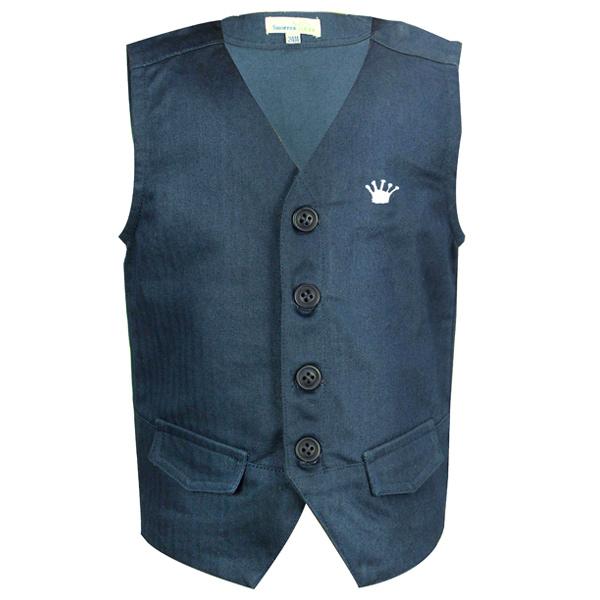 Blue Heringbone Waist Coat