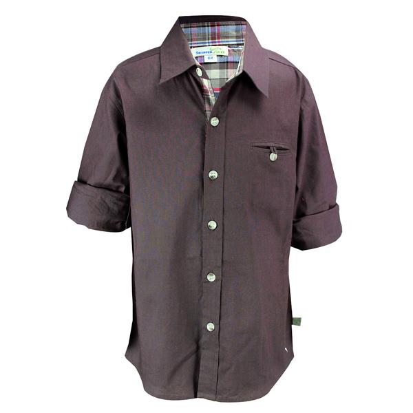 Dark Grey Popline Shirt