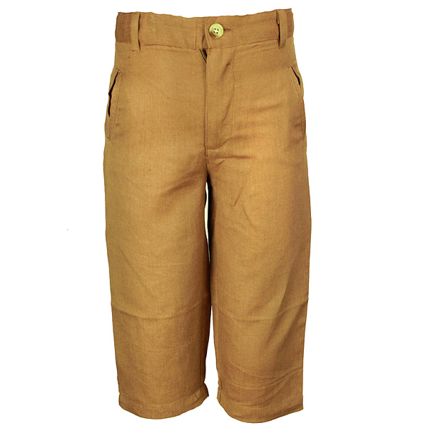 Brown linen Kids Pant