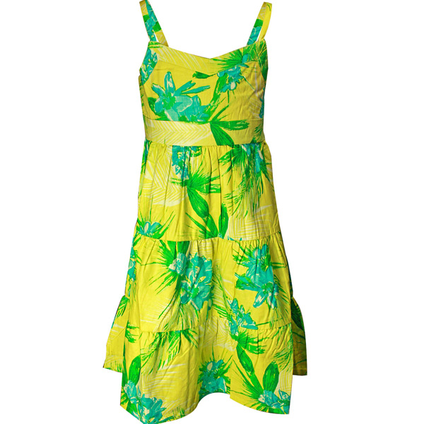 Green and Turq Printed Dress