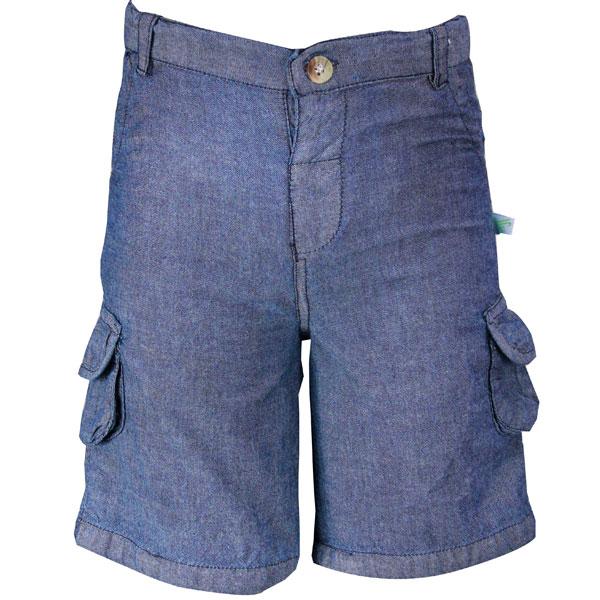 Silk Denim Shorts