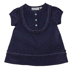 Royal Blue Corduroy Dress for Girls
