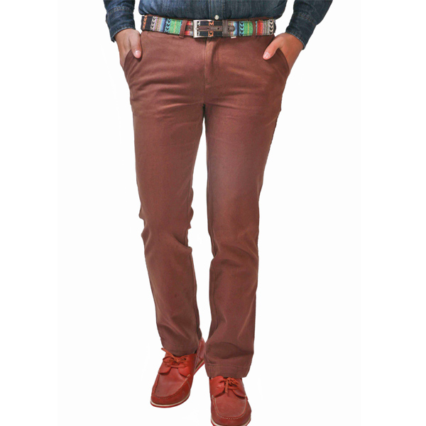 Dark Brown Men Trouser