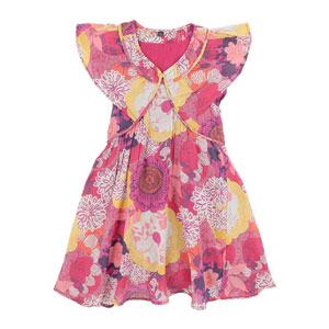 Multicolored Flower Dress for Girls