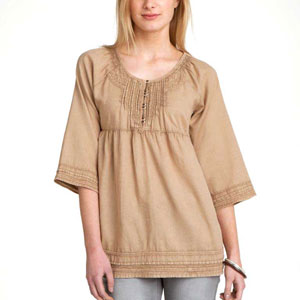 Twill Camel Over Dye Top for Women