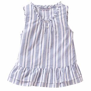 Blue & White Stripe Top for Girls