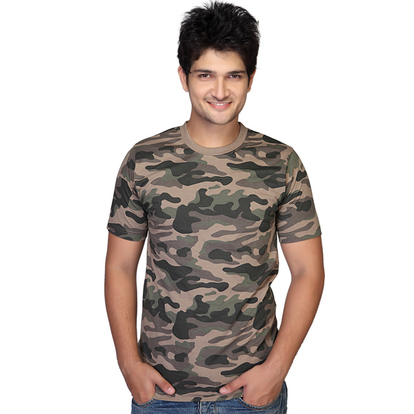 Clifton army printed crew neck t shirt for men india for Printed t shirts india