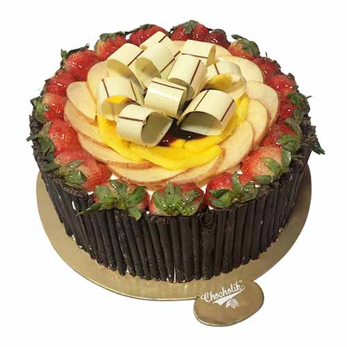 Chocholik Chef's Special Fruit Cake with Mango - Chandigarh Special