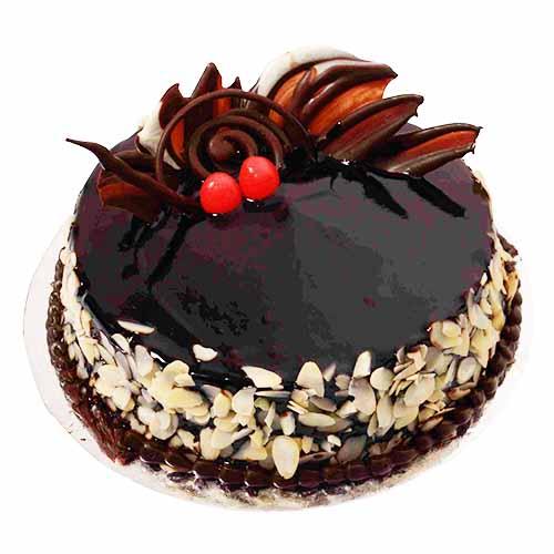 Choco Almond Cream Cake - Chandigarh Special