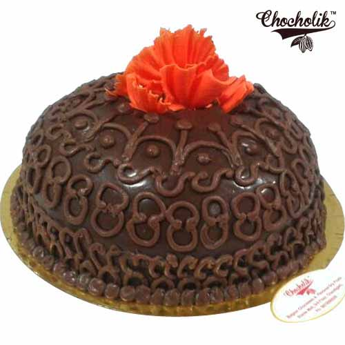 Chocolate Flower cake - Chandigarh Special