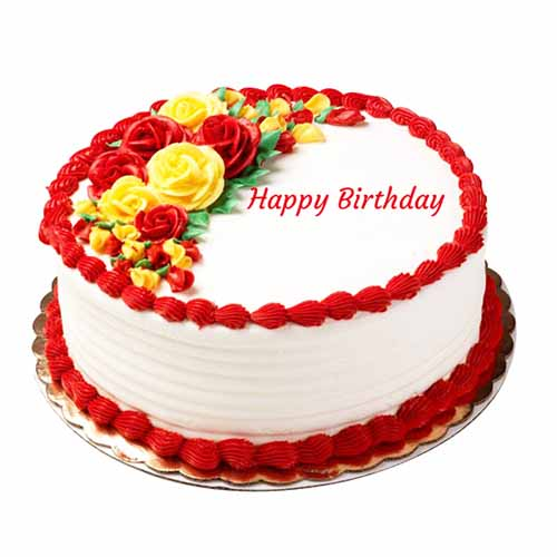 Happy Birthday Beautiful Flower Cake - Chandigarh Special