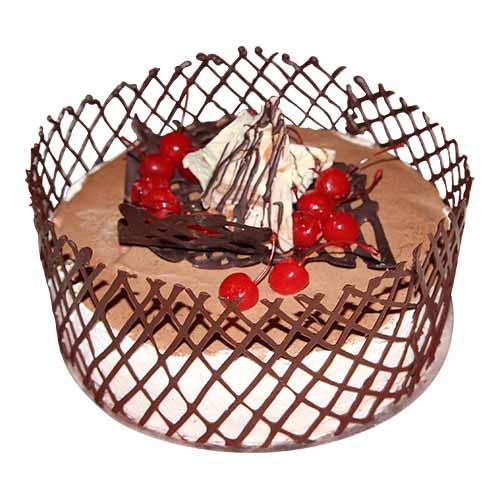 Red Cherry Net Cream Cake - Chandigarh Special
