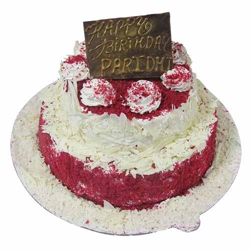 Red velvet 2 tier cake - Chandigarh Special