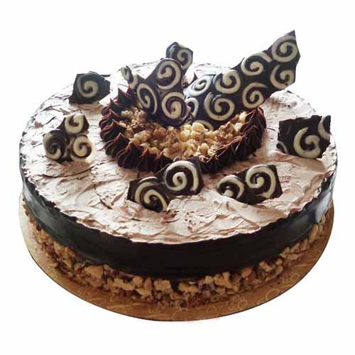 Walnut Chocolate Cream Cake - Chandigarh Special