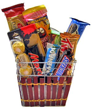 Chocolate Hampers-Chocolicious Love Basket