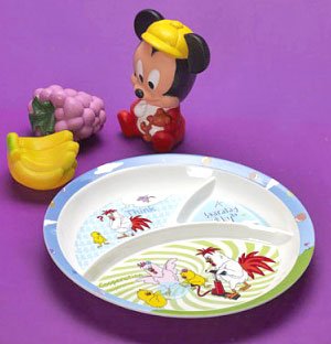 Thai Melamine Round Baby Section Plate