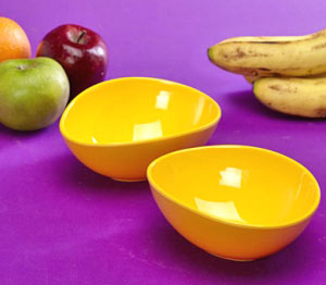Thai Melamine Snack Serving Bowl - Set of 2